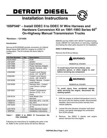 18sp546rev Manualzz, Ddec Ii Wiring Schematics