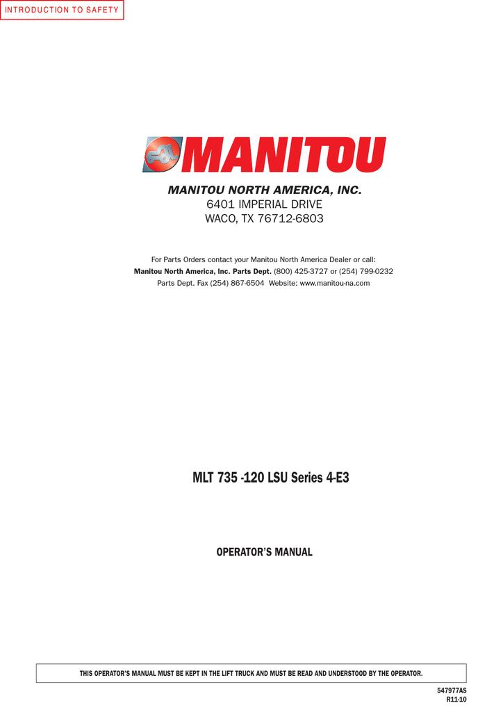 mlt 735 120 lsu series 4 e3 manualzz com rh manualzz com Answer Manitou Fork Parts Manitou Parts and Service USA