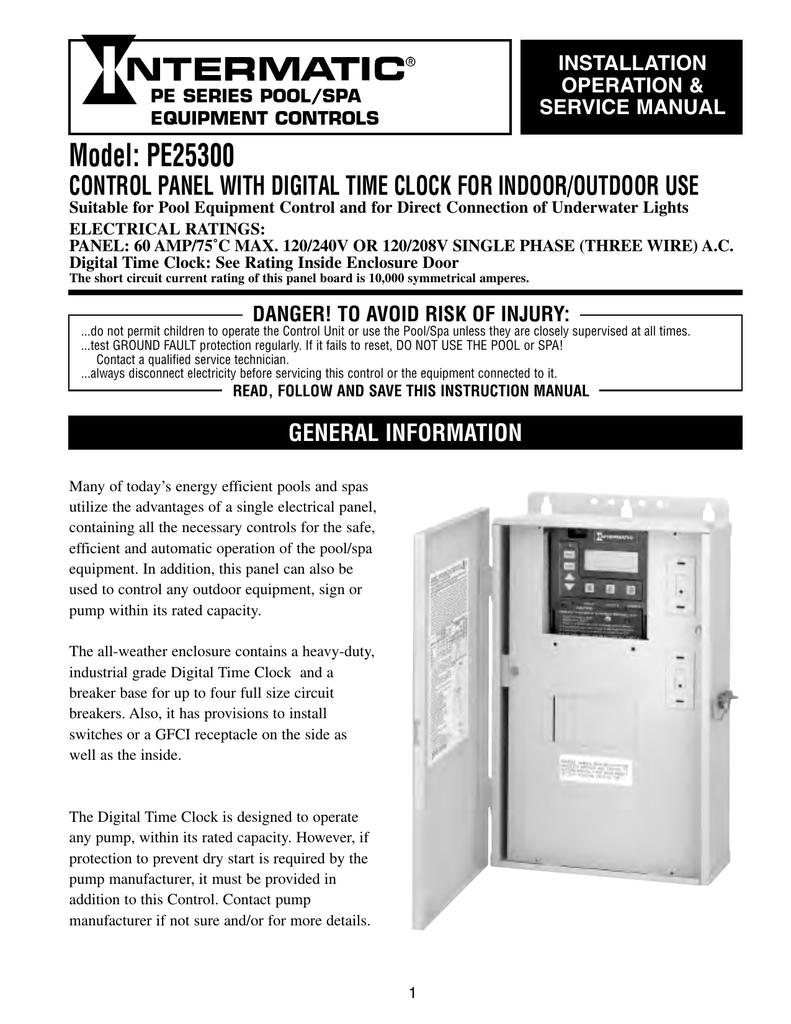 Intermatic PE25300 Install Manual   manualzz.com on