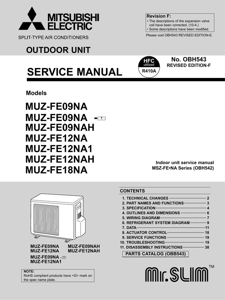 Muz Fe Service Manual Mitsubishi Msz Wiring Diagram