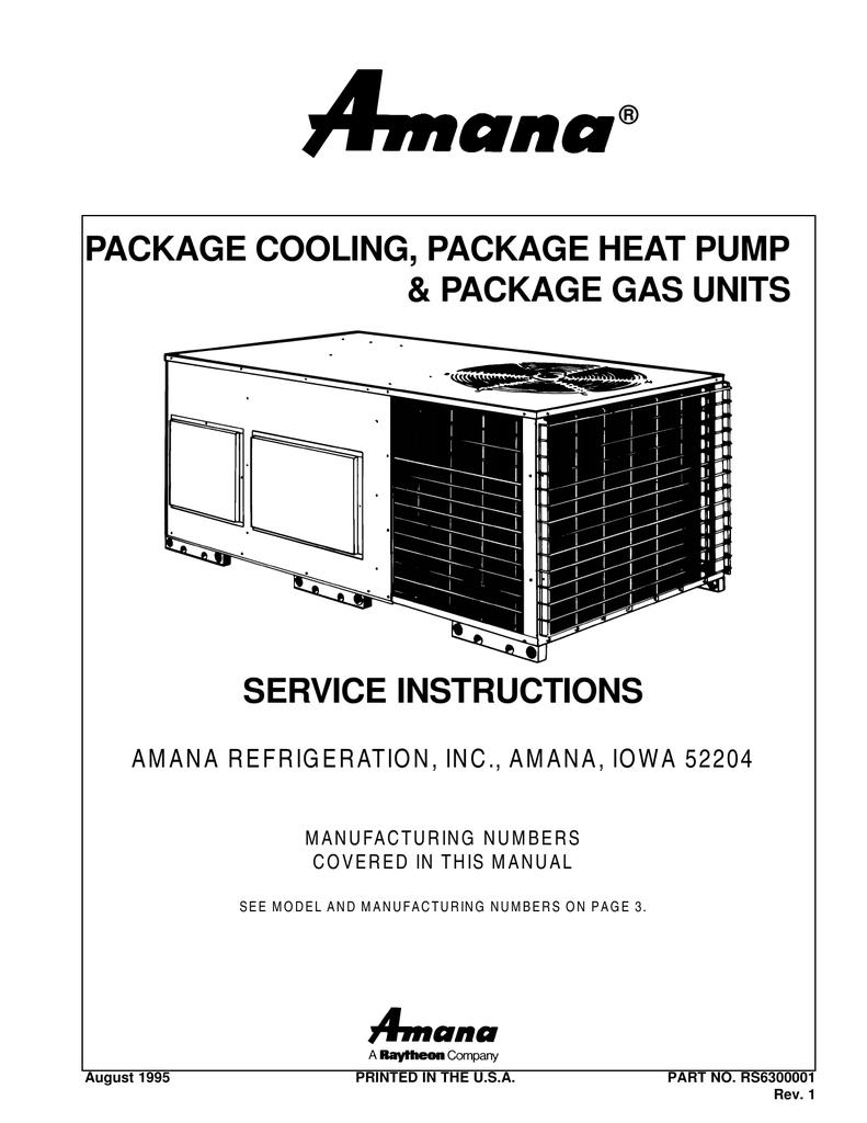 Package Unit Service Manual York Heat Pump Low Voltage Wiring Diagram