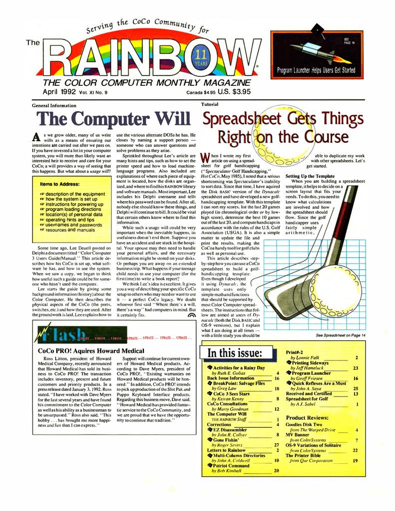The Rainbow Vol  11 No  09 - April 1992 - TRS | manualzz com