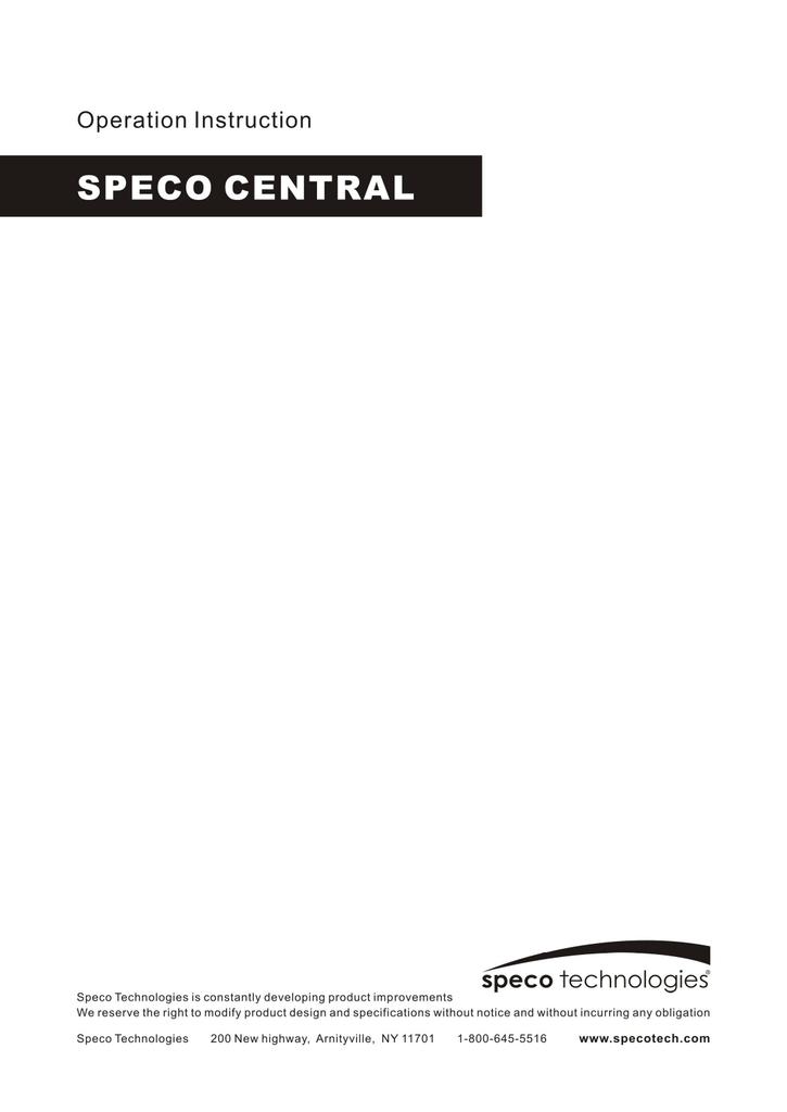 speco central management manual manualzz com rh manualzz com Speco Solar Speco Speakers