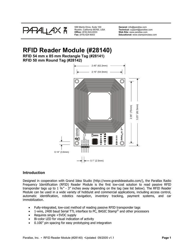 RFID Reader Module (#28140) | manualzz com