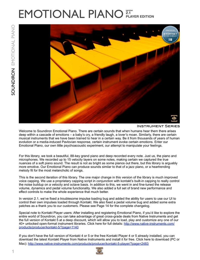 EMOTIONAL PIANO | manualzz com