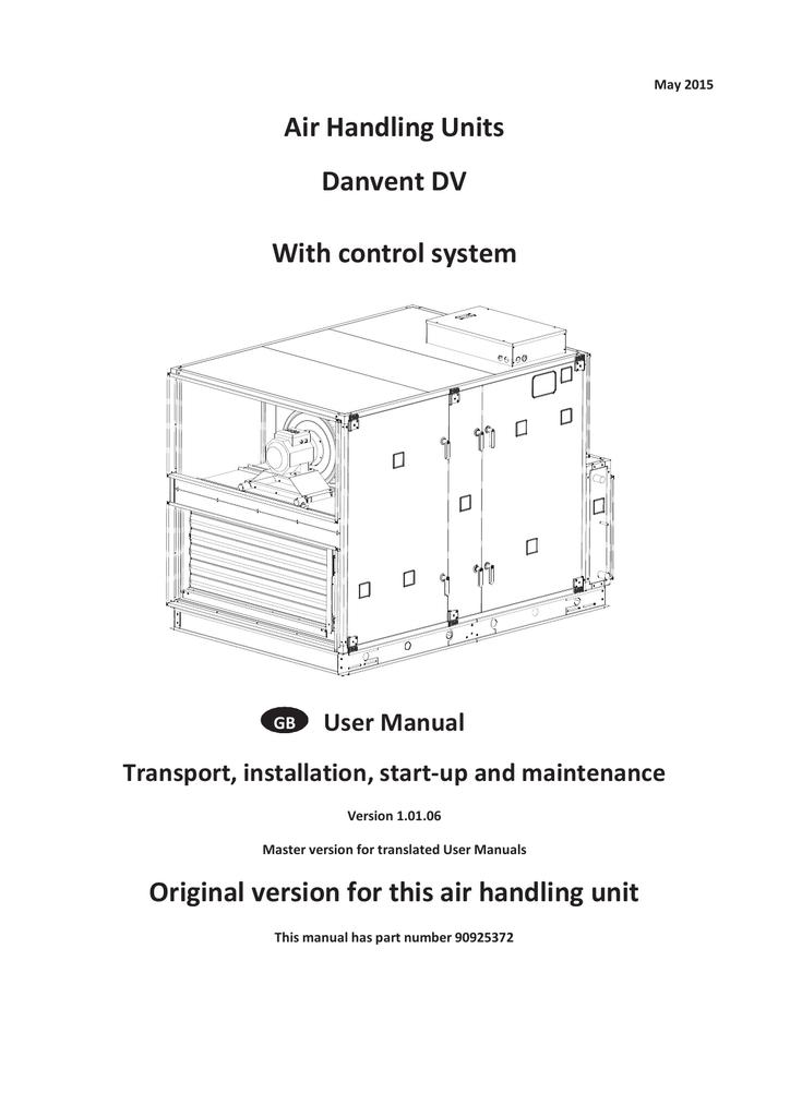 Air Handling Units Danvent DV With control system   manualzz com