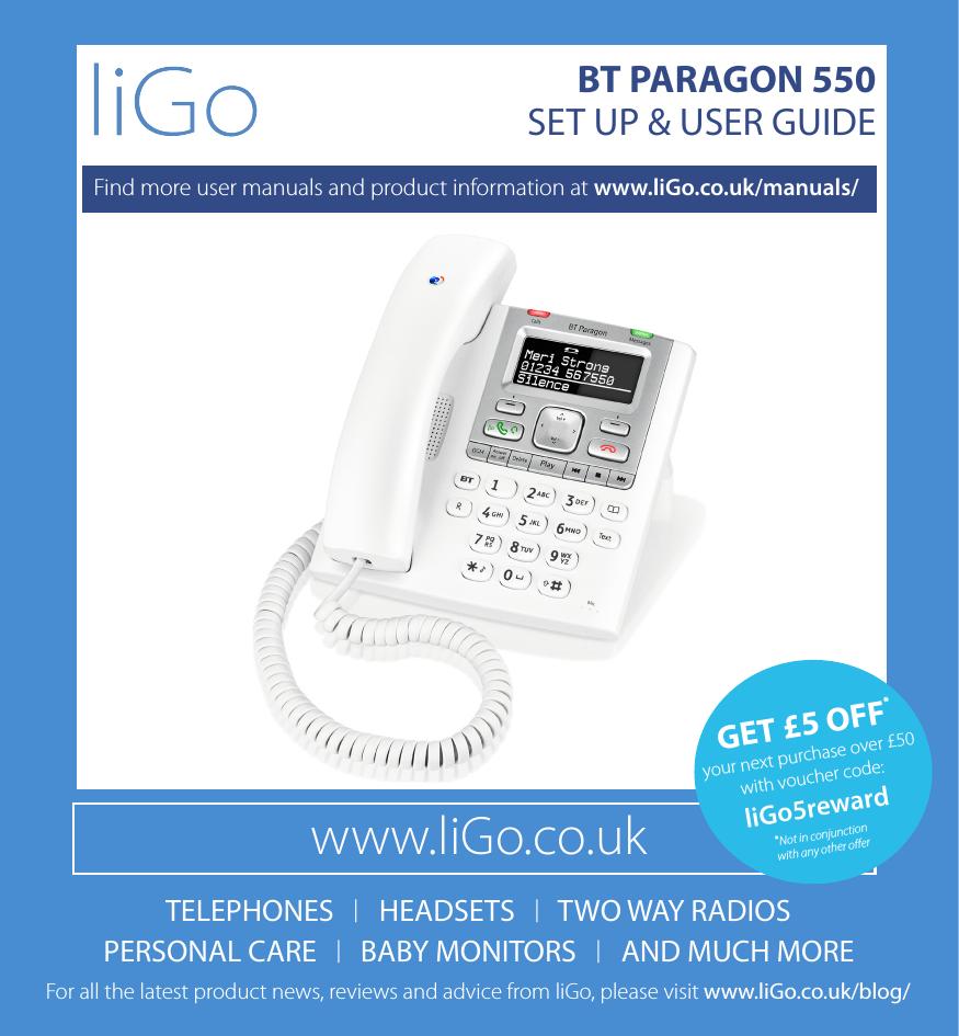 BT Paragon 550 - User Manual