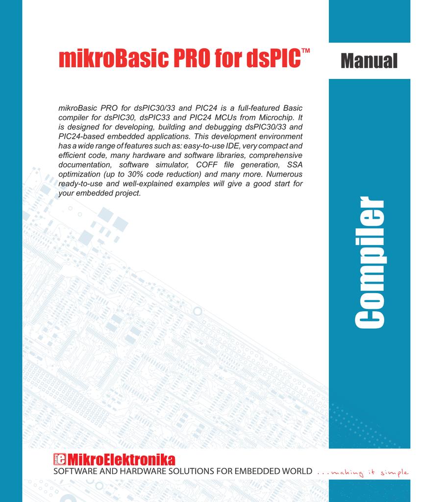 mikroBasic PRO - MikroElektronika | manualzz com