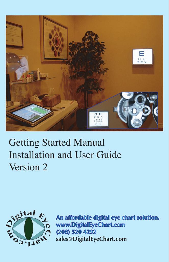 Users Guide Digital Eye Chart Manualzz