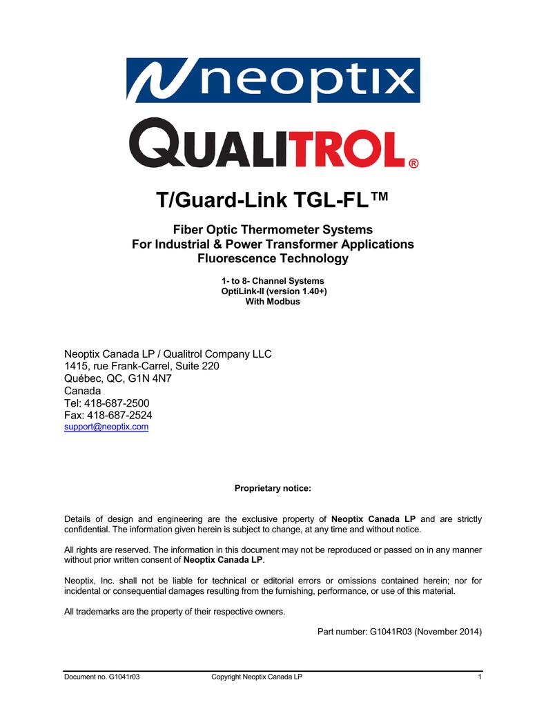 Qualitrol 3d Pin Relay Wiring Diagram Schematic Diagrams Inverter Circuit G1041 Neoptix Manualzz Com