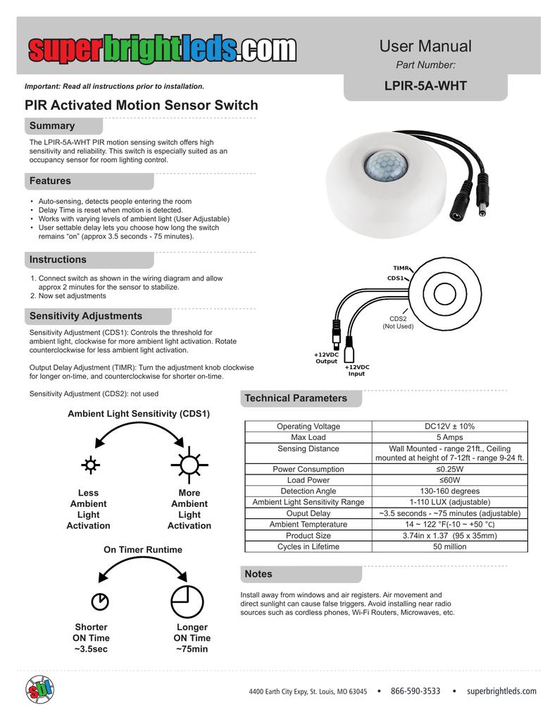 Ceiling Motion Sensor Wiring Diagram