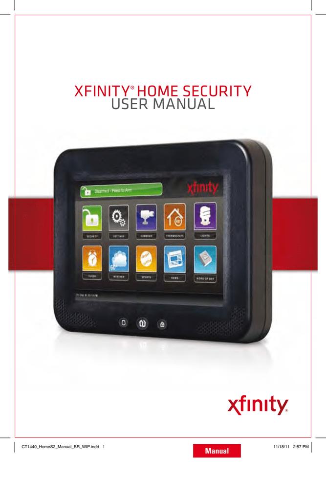 XFINITY® HOME SECURITY USER MaNUal   manualzz com