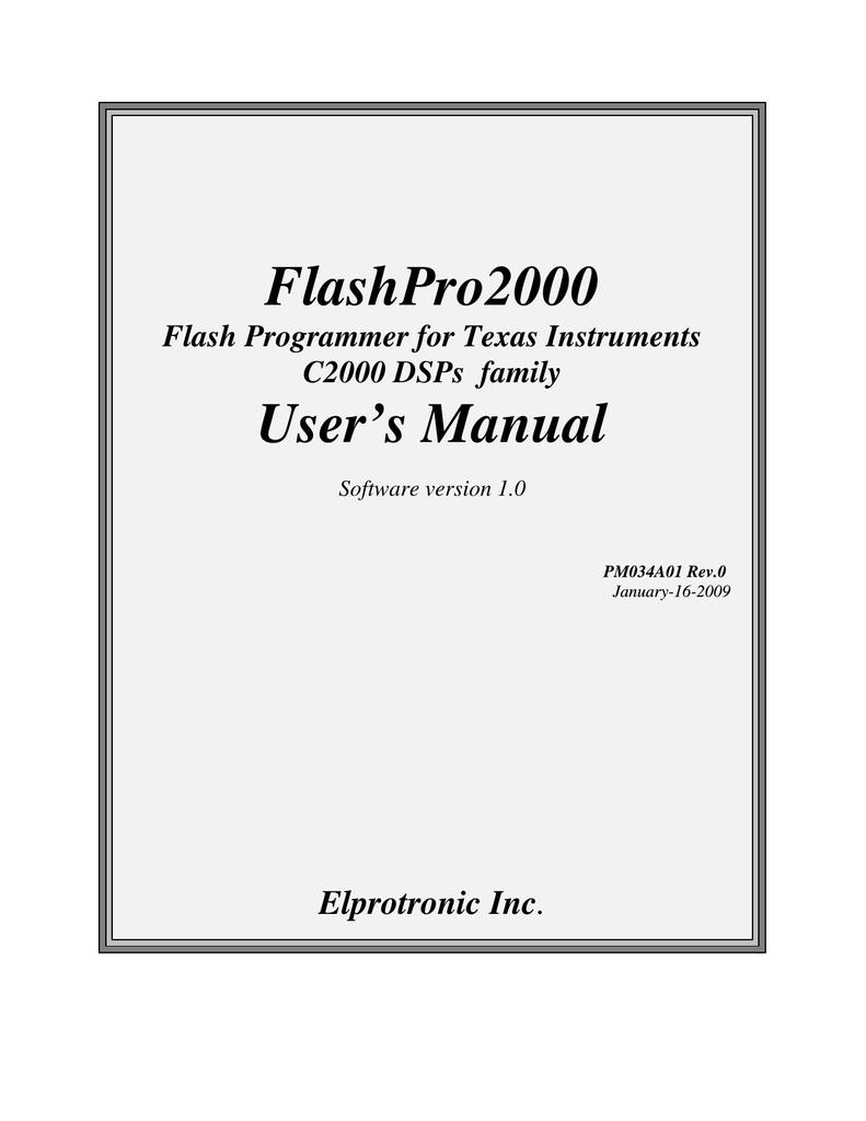 FlashPro-C2000-LITE Elprotronic Inc