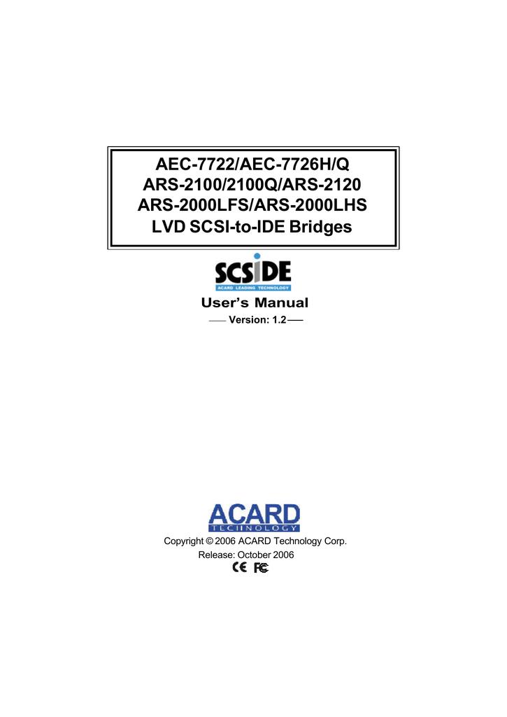 ACARD ARS-2100 DRIVERS WINDOWS 7 (2019)