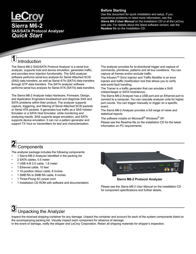 Sierra M6-2 Quick Start Manual | manualzz com