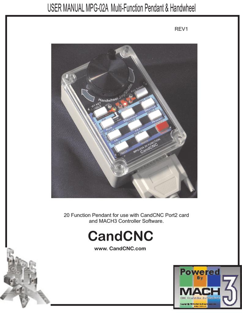 Handwheel Jog/Shuttle CandCNC | manualzz com