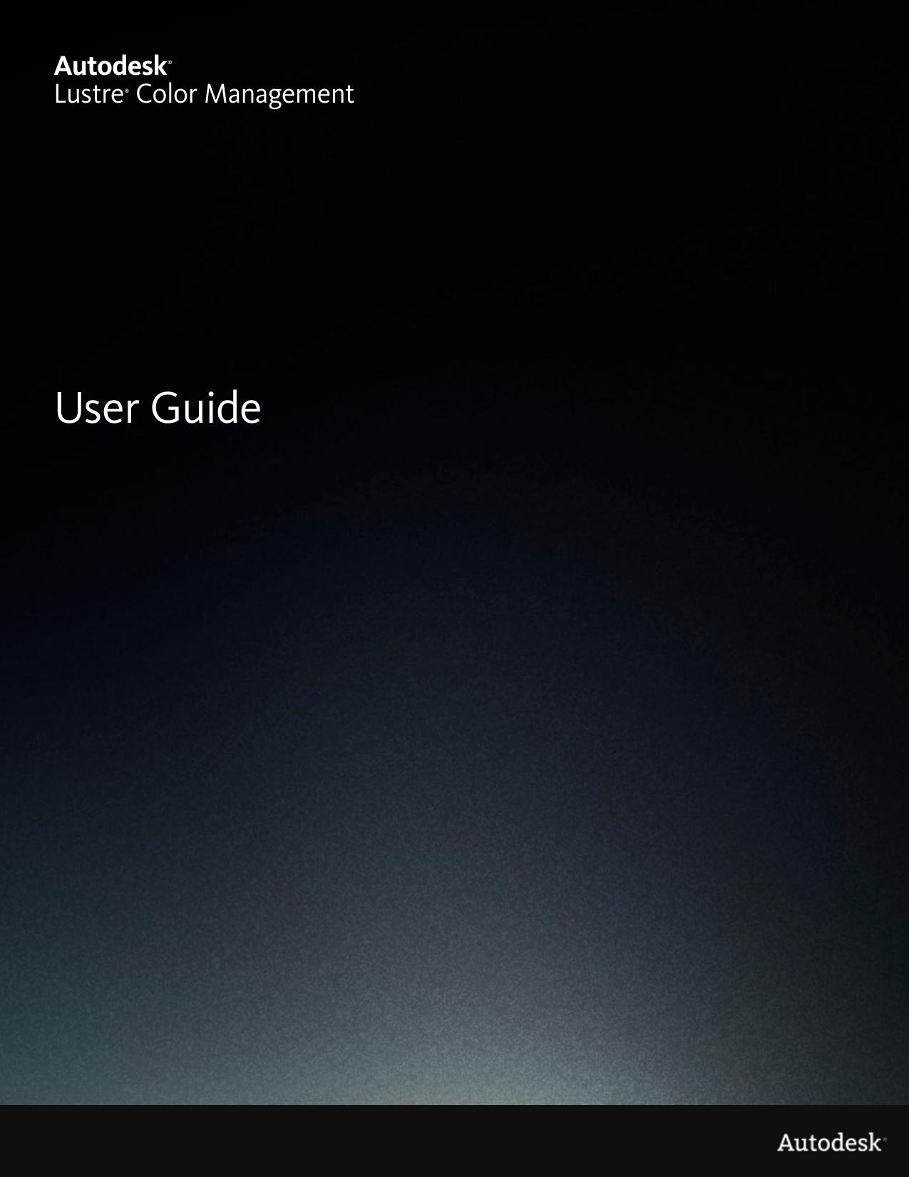 Autodesk Lustre Color Management User Guide   manualzz com