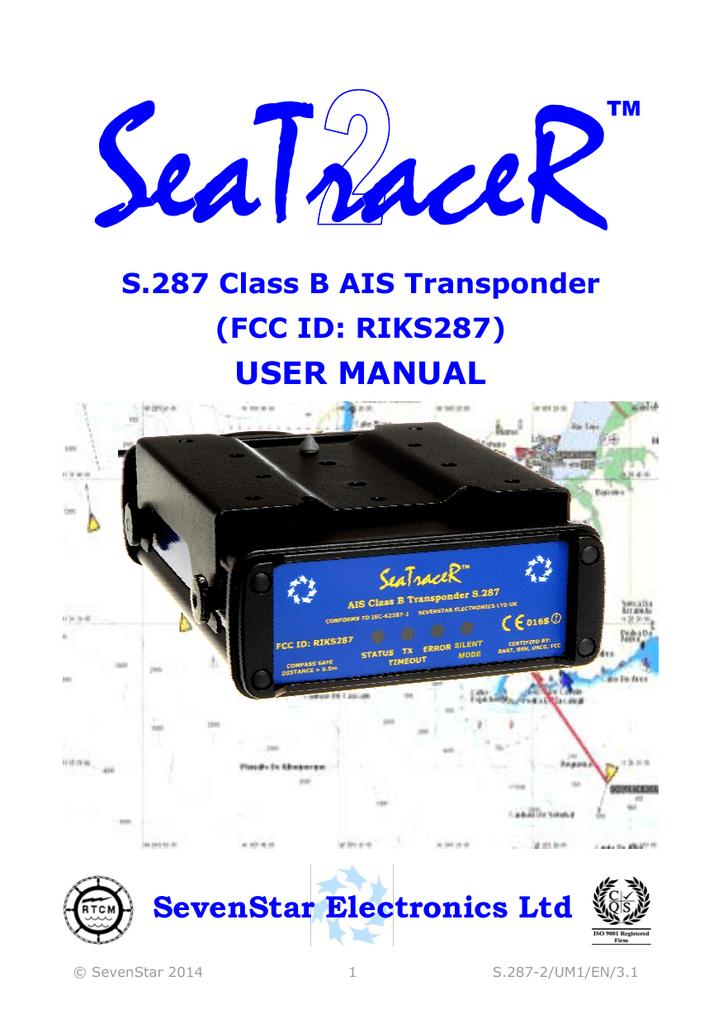 SeaTraceR2 AIS B User Manual | manualzz com