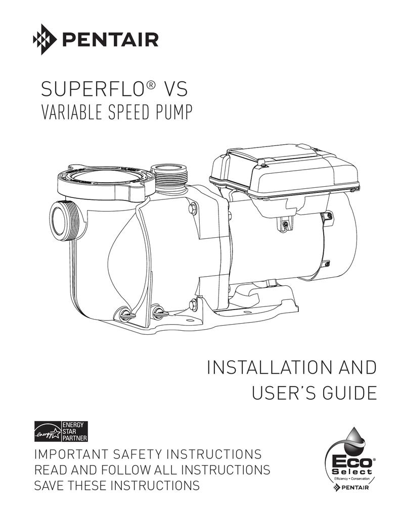Superflo VS Owner`s Manual | manualzz com