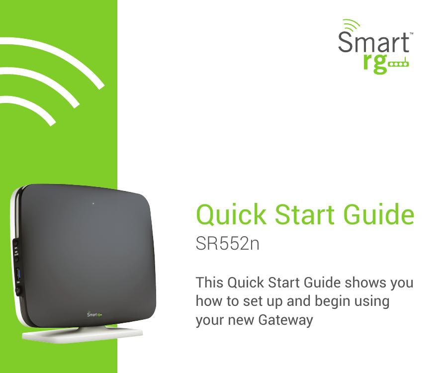 SmartRG SR552n Quick Start Guide | manualzz com