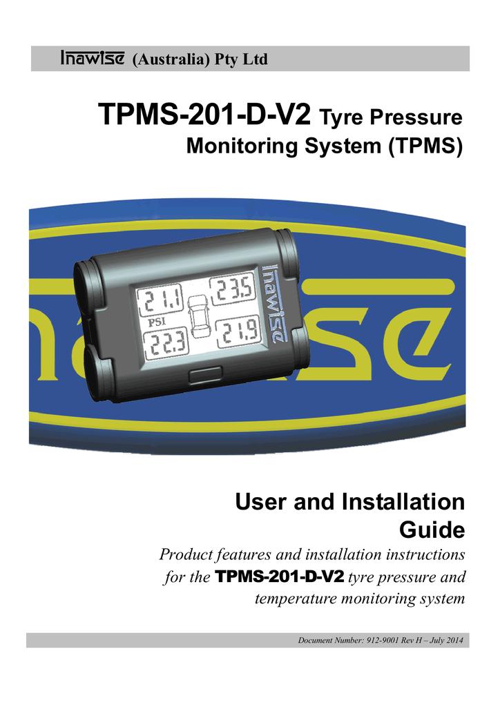 Tpms 201 D V2 Tyre Pressure Manualzz