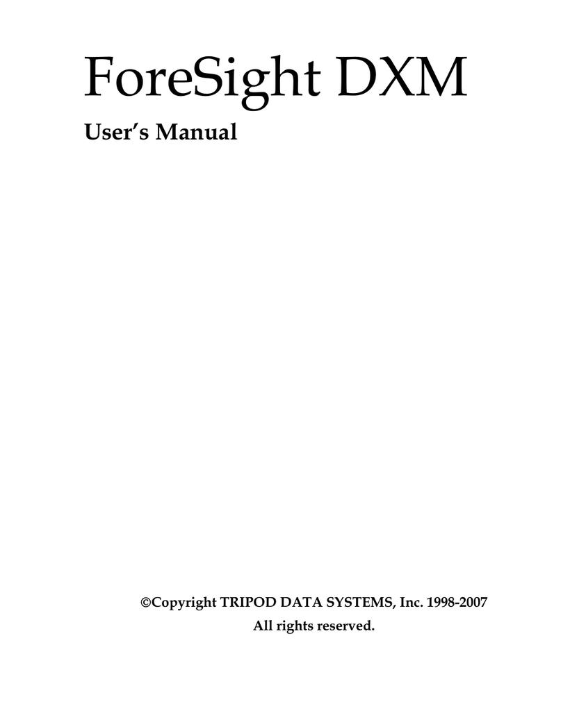 Foresight dxm download