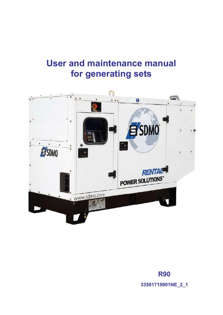 Generating Set R90 User Manual Sdmo Manualzzcom