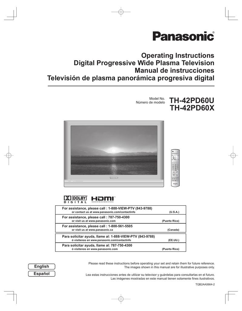 th 42pd60u th 42pd60x support manualzz com rh manualzz com manual panasonic plasma 50 manual tv plasma panasonic