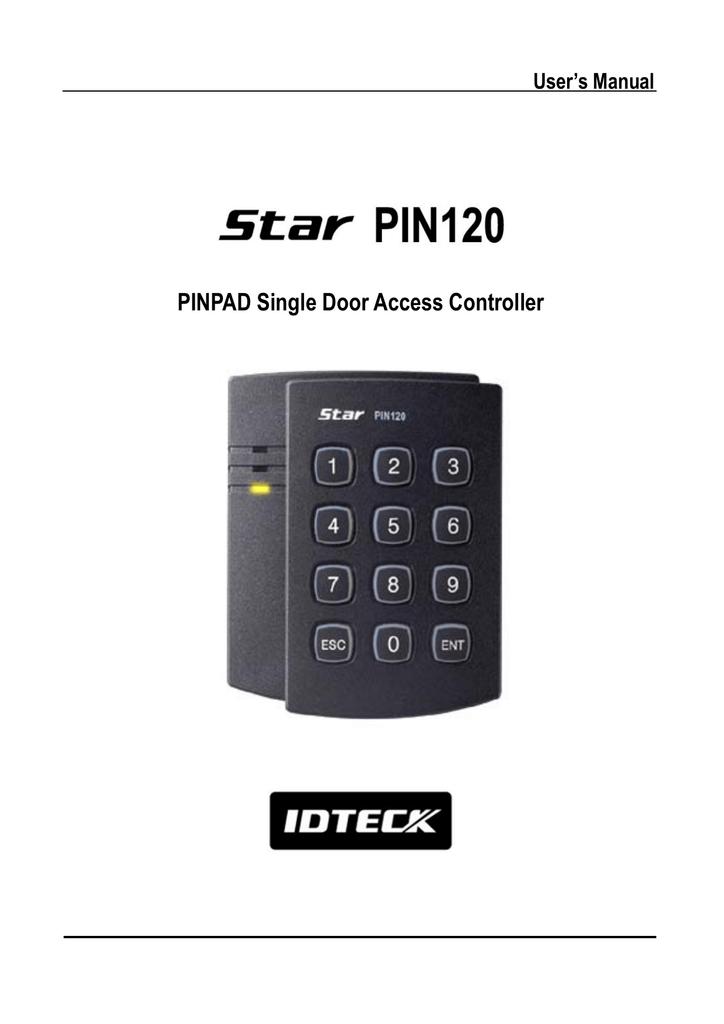 PINPAD Single Door Access Controller | manualzz com