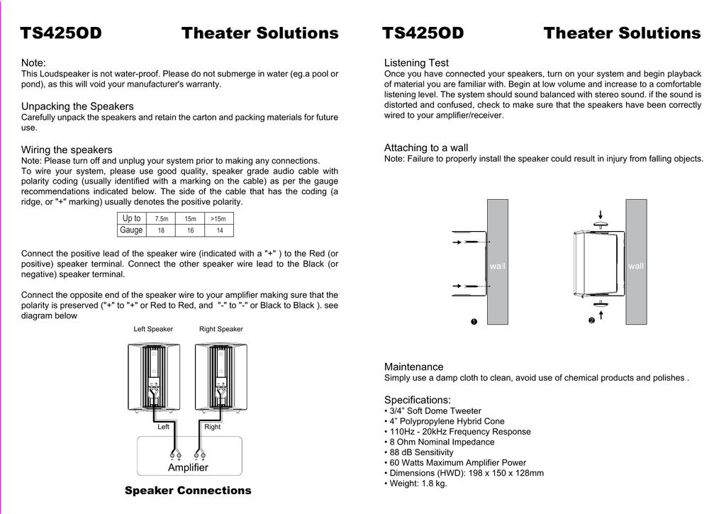 TS425OD user manual | manualzz com