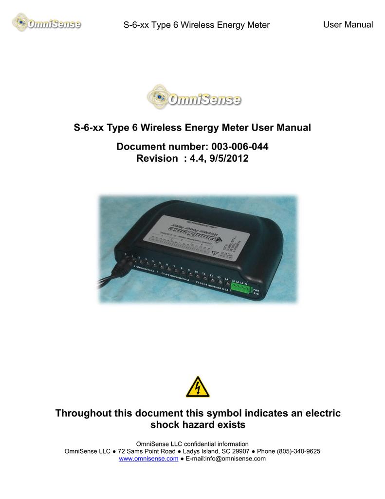 S-6 OmniSense Energy Meter User Manual   manualzz com