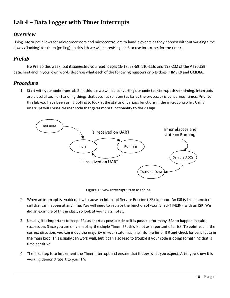 Lab 4 – Data Logger with Timer Interrupts   manualzz com
