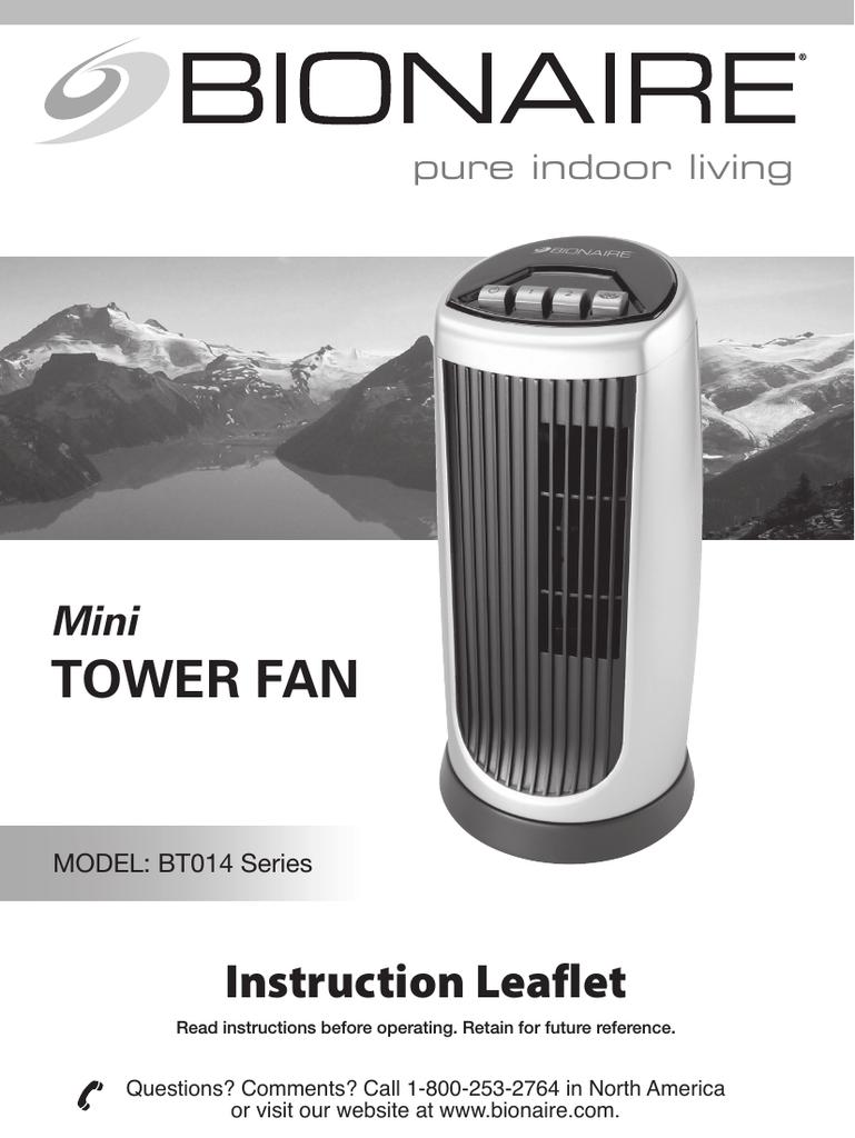 TOWER FAN | manualzz com