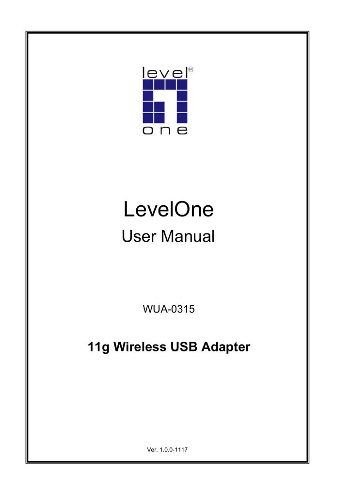 LEVELONE WUA 0315 DRIVER FOR WINDOWS 7
