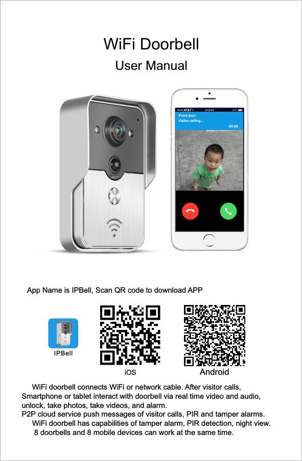 WiFi doorbell user manual cdr | manualzz com