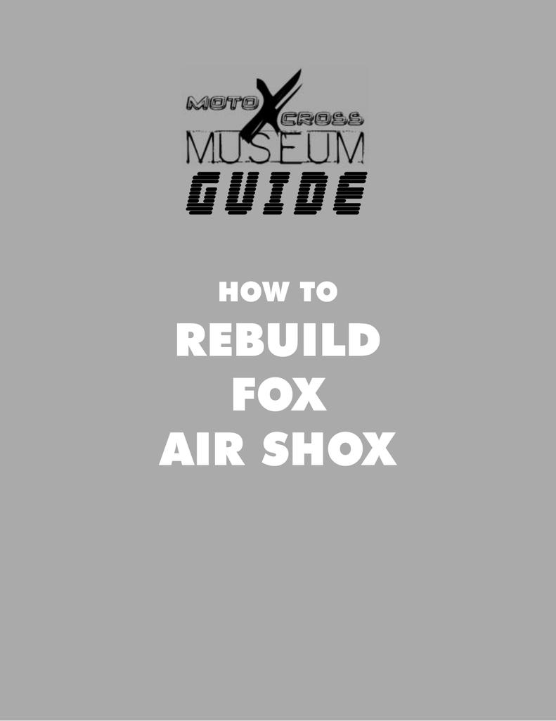 REBUILD FOX AIR SHOX | manualzz com
