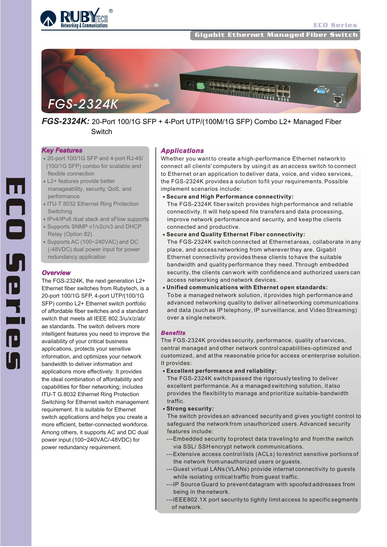 FGS-2324K - Ruby Tech    manualzz com