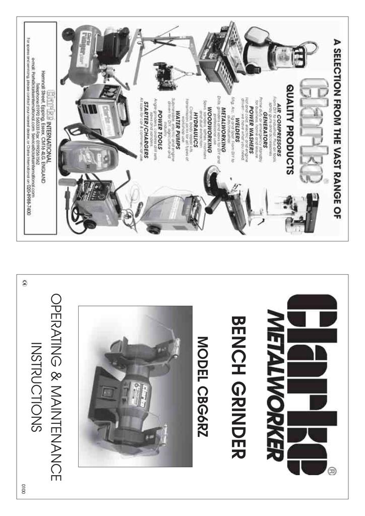Outstanding Cbg6Rz Clarke Bench Grinder User Manual Manualzz Com Beatyapartments Chair Design Images Beatyapartmentscom