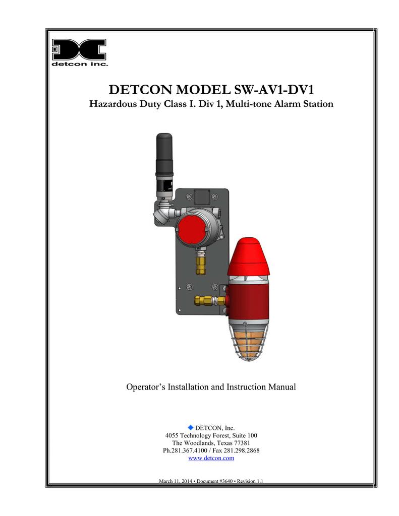 Sw Av1 Dv1 Instruction Manual Multitone Siren Alarm Circuit Diagram