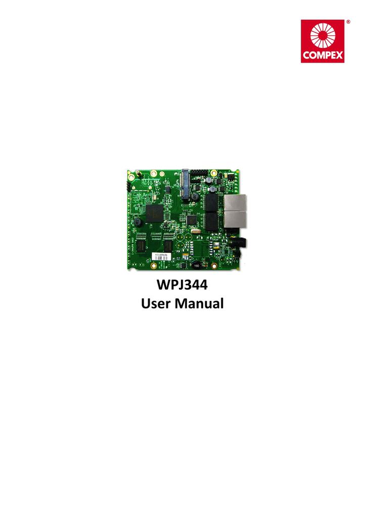 WPJ344 User Manual   manualzz com