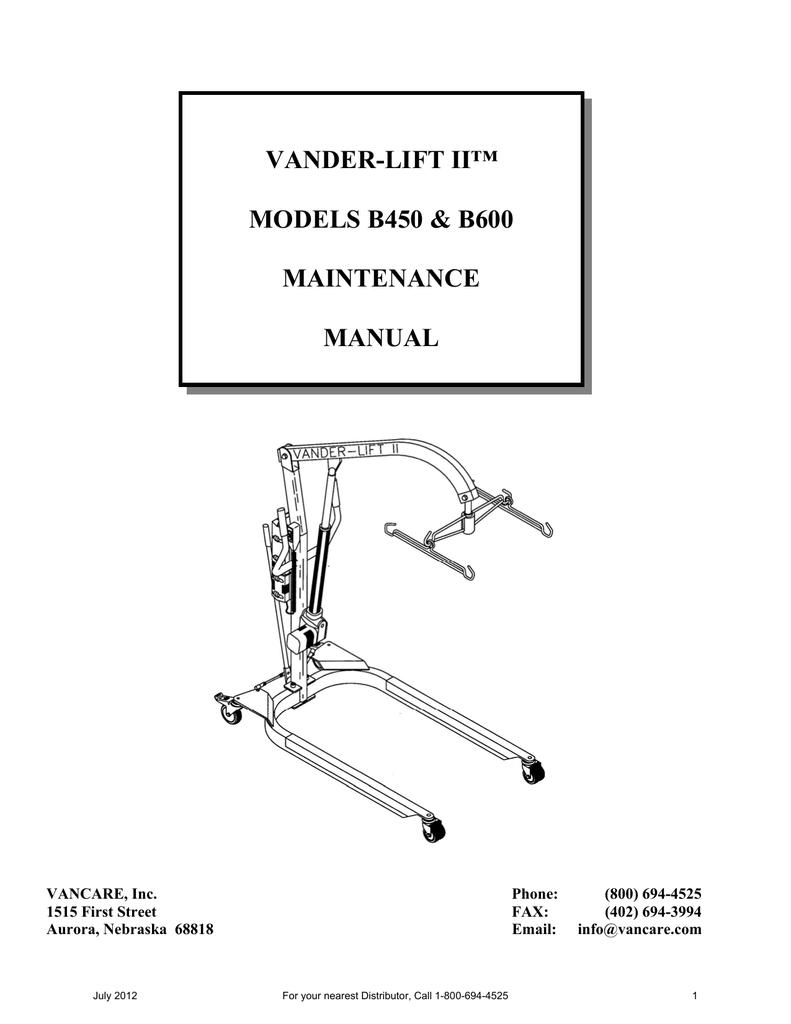 Vander Lift Ii Models B450 B600 China Circuit Breaker Box Cb08