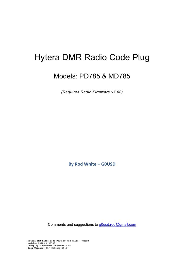 Hytera DMR Radio Code Plug | manualzz com