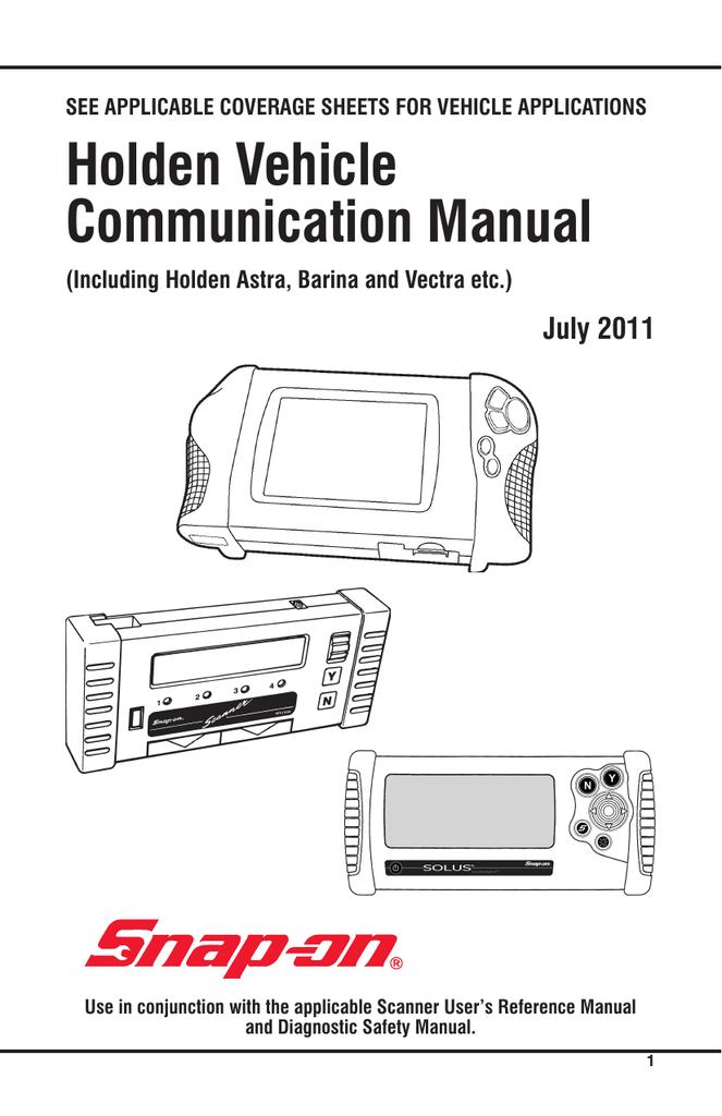 AUS Holden Vehicle Communication Software - Snap   manualzz com