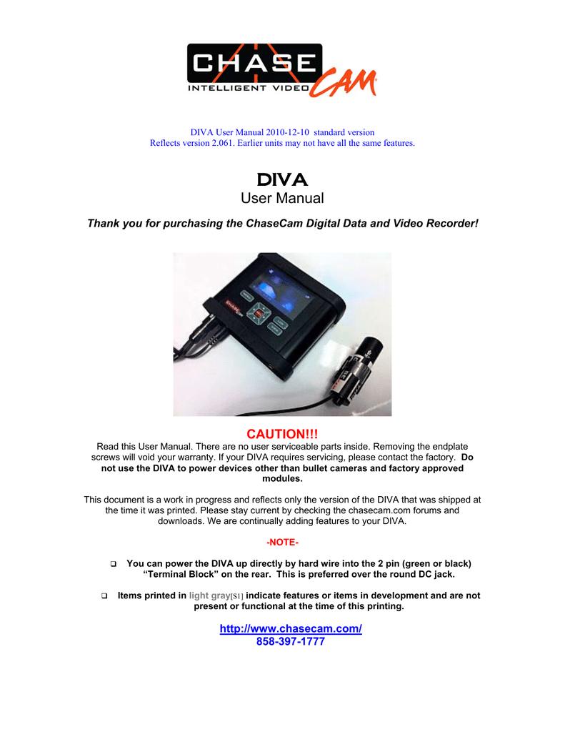 DIVA-SD user-manual-V2061 | manualzz com