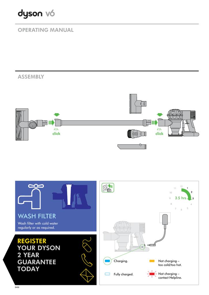 Инструкция по эксплуатации пылесоса дайсон dc62 пылесосы дайсон цена в самаре