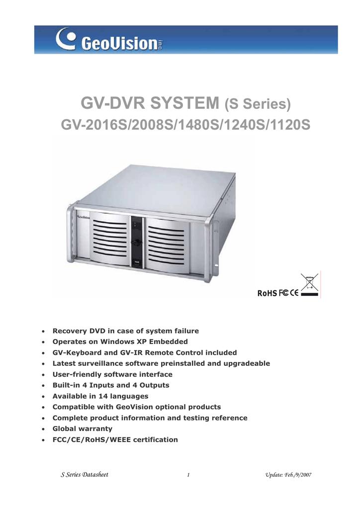 GV-4U DVR datasheet | manualzz com