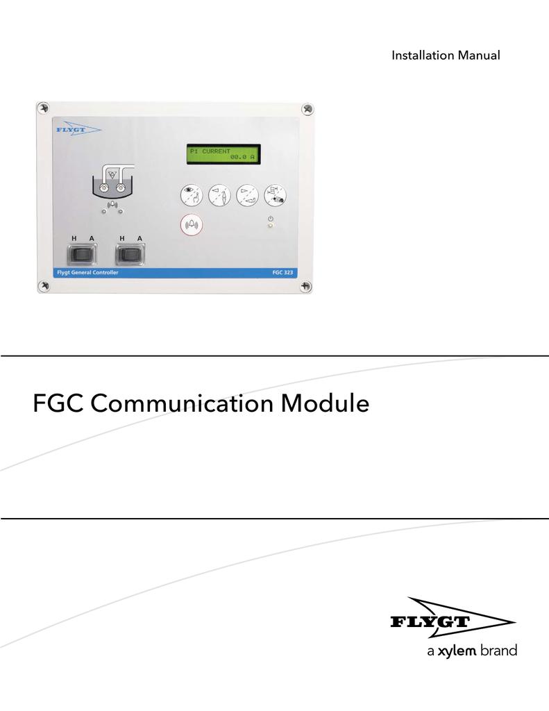 fgc communication module manualzz com rh manualzz com  flygt fgc 323 user manual