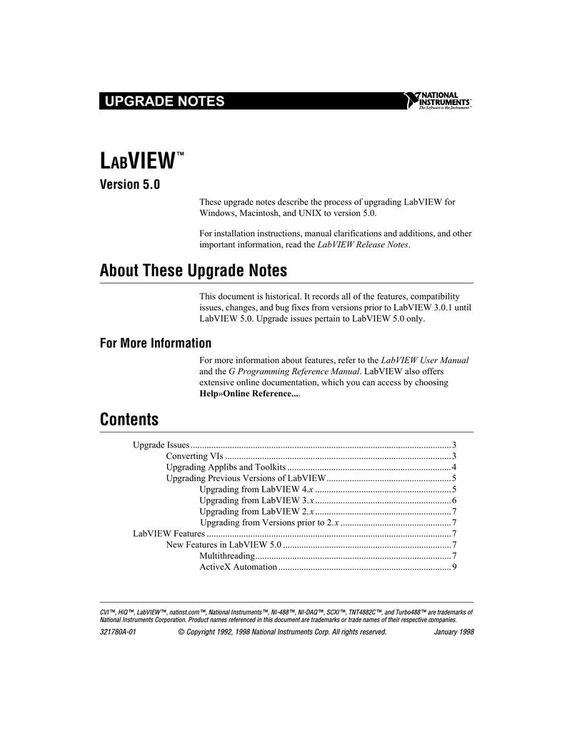 LabVIEW 5 0 Upgrade Notes | manualzz com