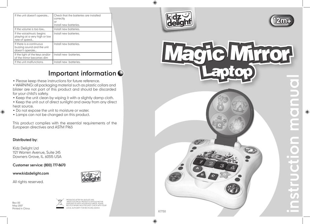 Magic Mirror Laptop the manual | manualzz com