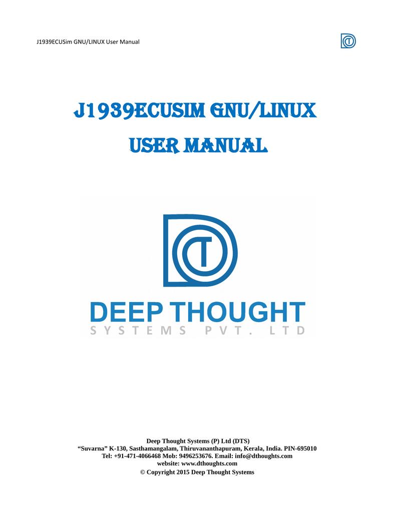 J1939ECUSIM GNU/LINUX User Manual | manualzz com